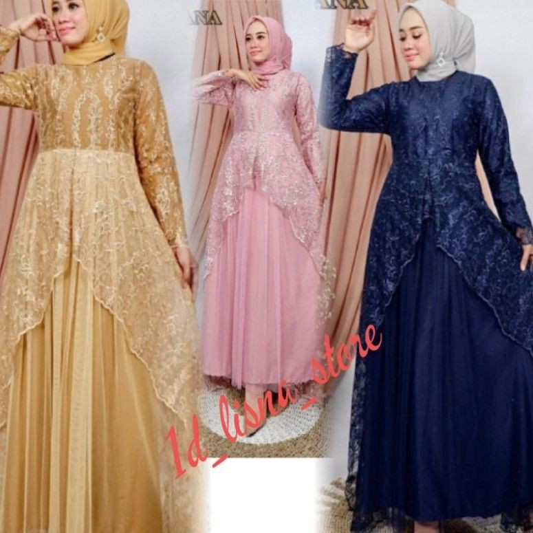 dress muslim//Dayana dress//gamis pesta original by pelangi jaya