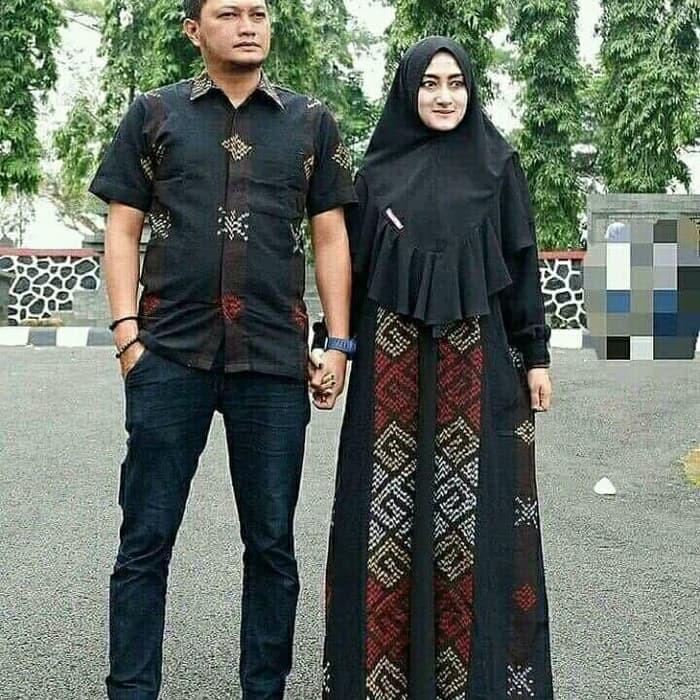 Baju Couple Kemeja Pria Gamis Maxi Dress Ethnic Kain Tenun Jepara Shopee Indonesia