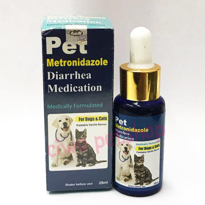 Obat Diare Kucing Mencret Anjing PET Metronidazole Diarrhea Medication | Shopee Indonesia