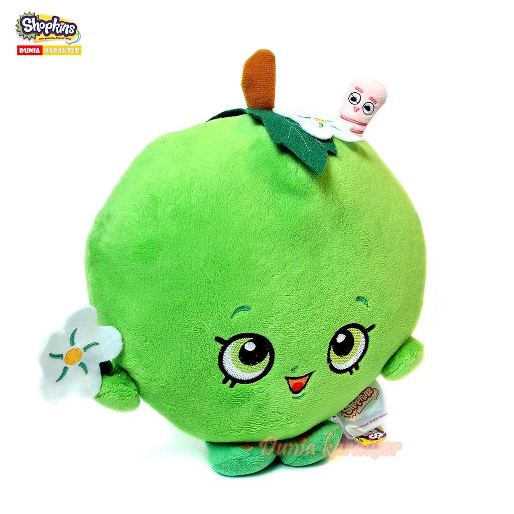 Boneka Bantal Shopkins Plush Toy Apple Blossom Original Shopee Indonesia