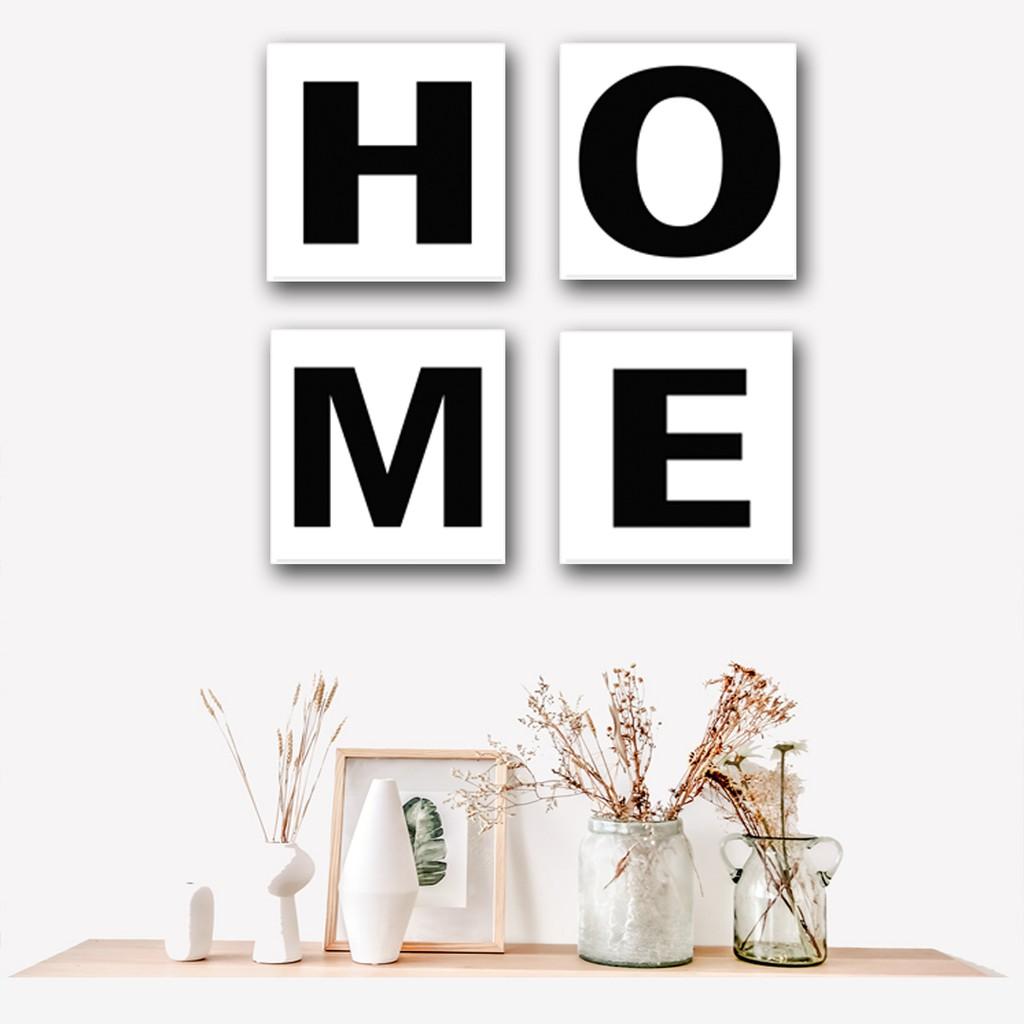 Chic Homedecor Hiasan Dinding Paket 4 In1 Tulisan Home Pajangan Dinding Rumah Shopee Indonesia