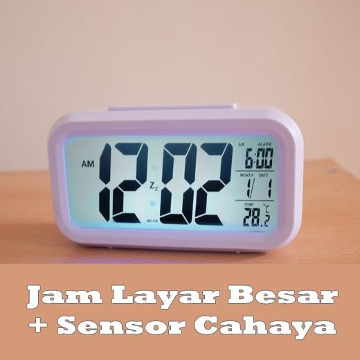 Jam Digital Jam Weker Alarm LED Temperatur Kalender  599b19a7e7