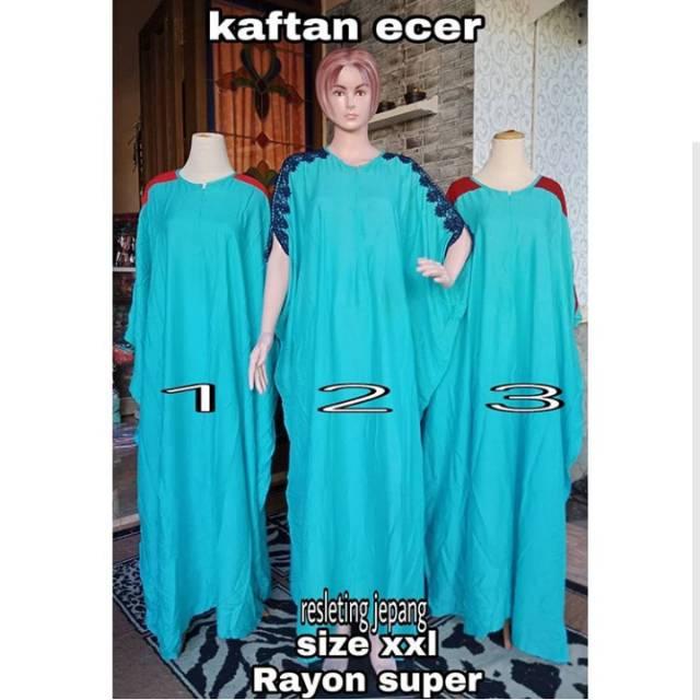 Dress Muslim Kaftan Ecer Baju Pesta Ibu Hamil Menyusui Super Jumbo Kado Hadiah Lahiran Premium Murah