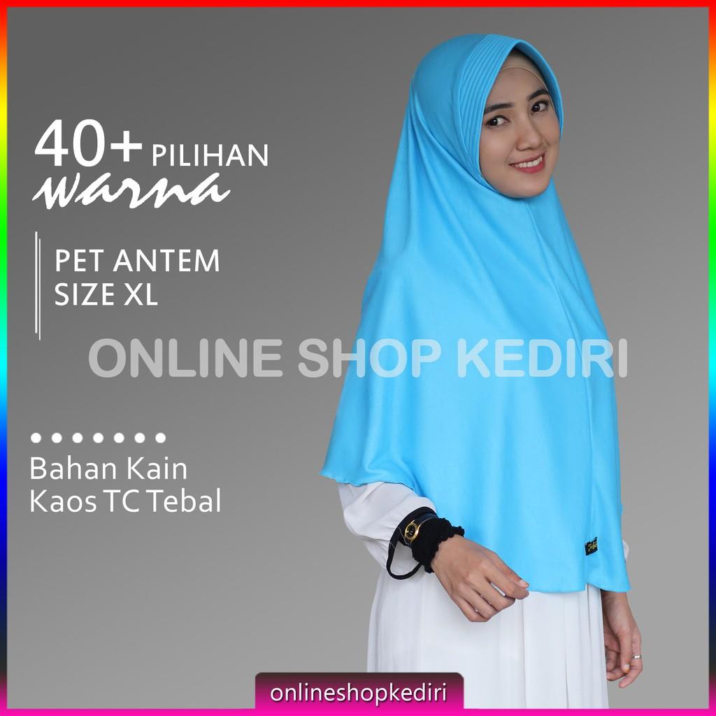 Jilbab Syari Xl Pet Antem Instan Jumbo Wolfis Khimar Kaos Serut Wanita Panjang R1 R2 Shopee Indonesia