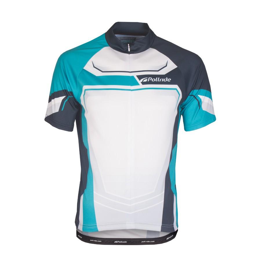 "Jersey Sepeda Roadbike Pollride ""SPEED CENTRO turquoise"
