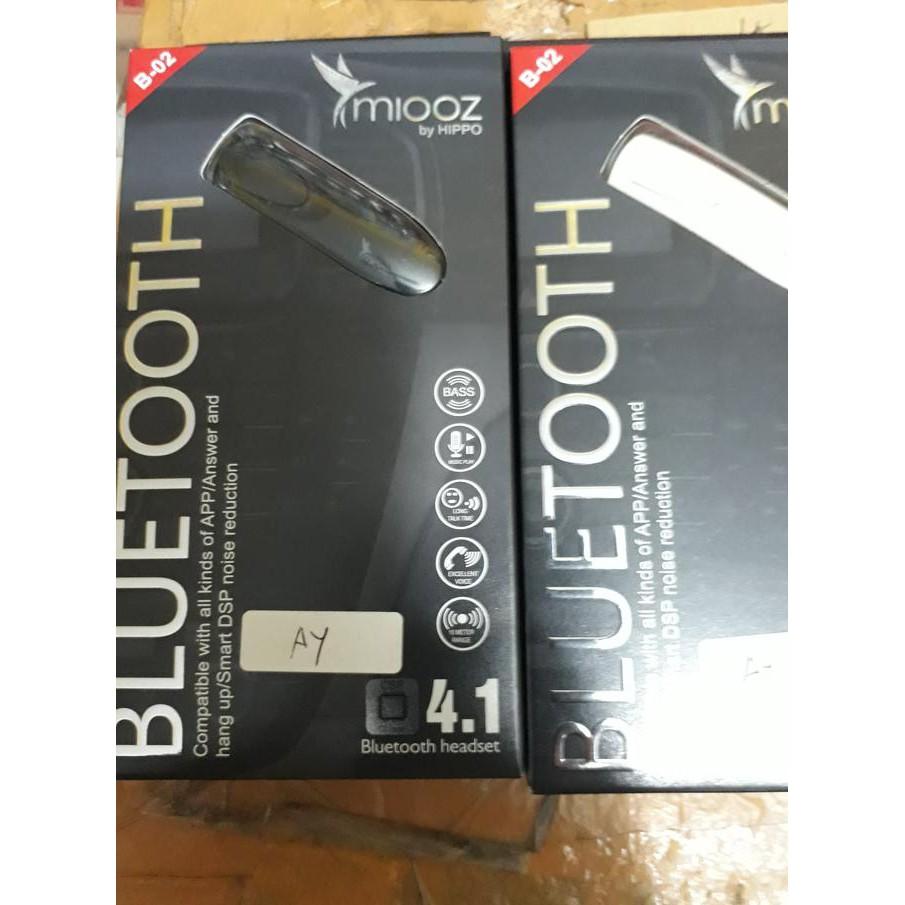 Termurah Hippo Miooz B02 Bluetooth Headset B 02 Handsfree V 41  Black Shopee Indonesia