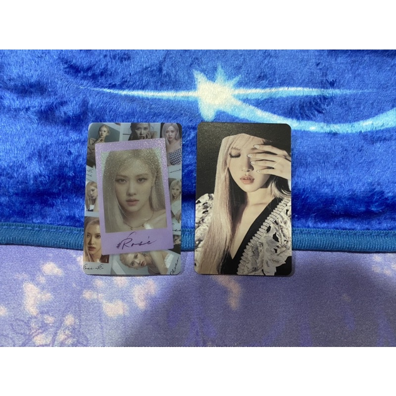 Rose photocard blackpink kpopmerch benefit R special ed photobook rosé official jennie jisoo lisa pc