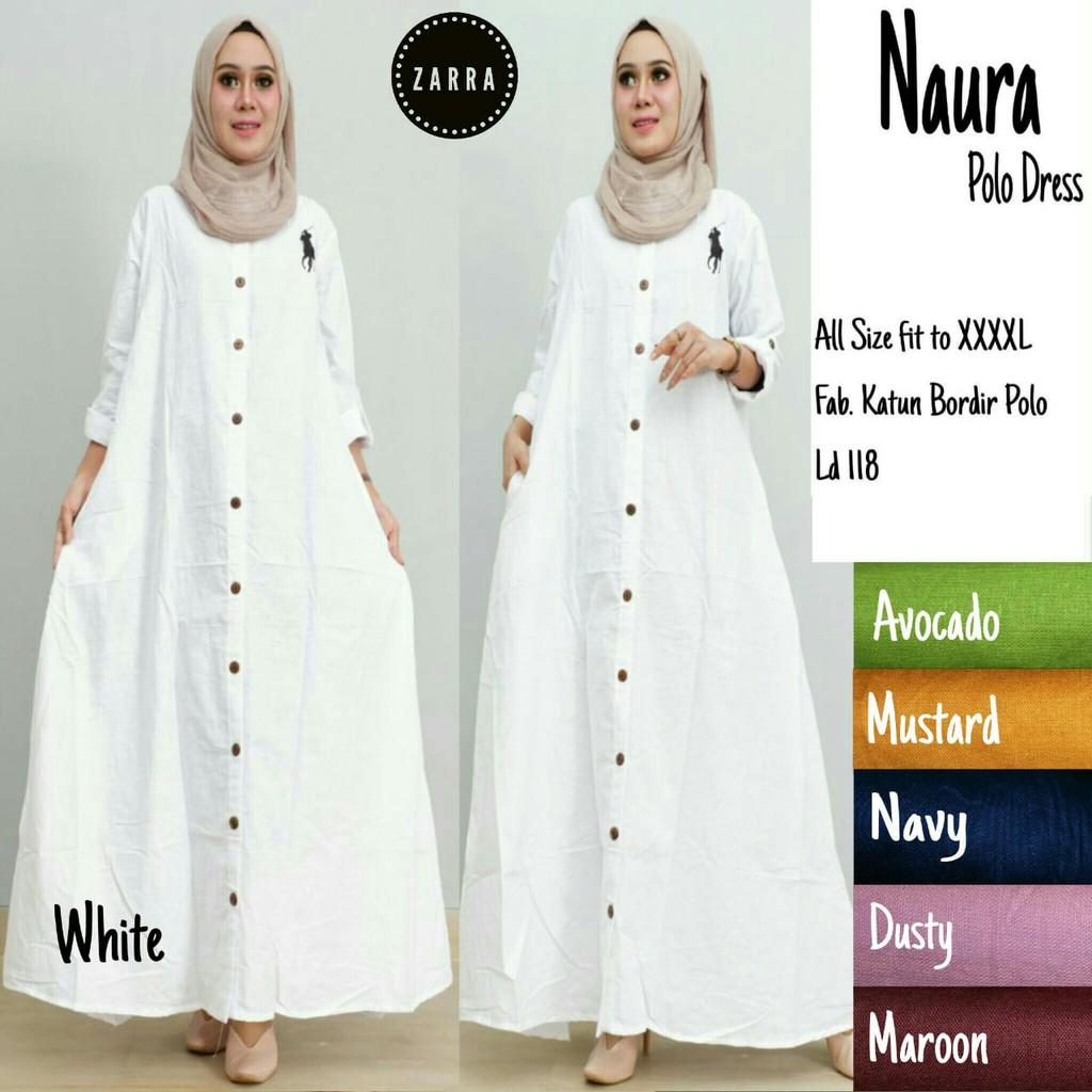 Gamis Putih Temukan Harga Dan Penawaran Dress Muslim Online