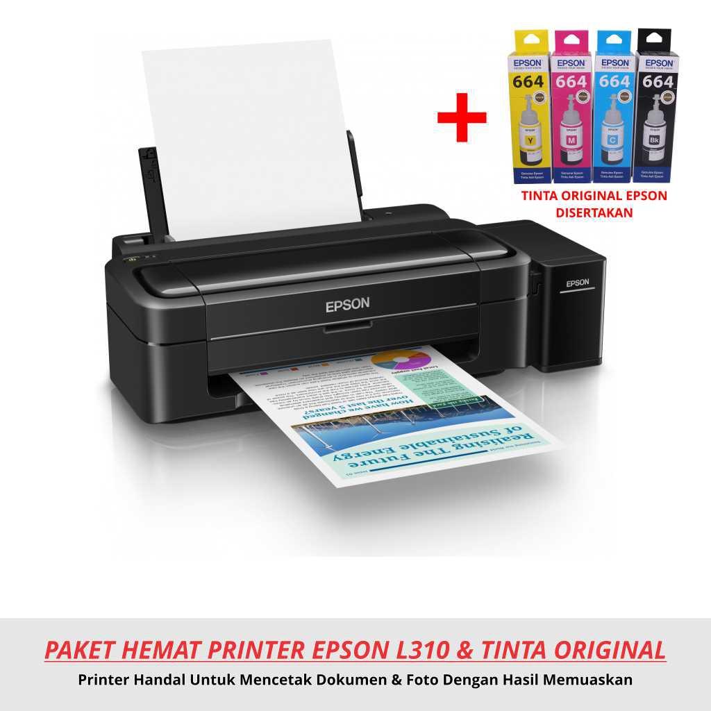 Paket Printer Modifikasi Epson L310 Original Shopee Indonesia