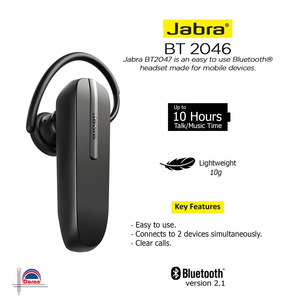 Headset Bluetooth Jabra BT 2046 Garansi Resmi Axindo 1 Tahun