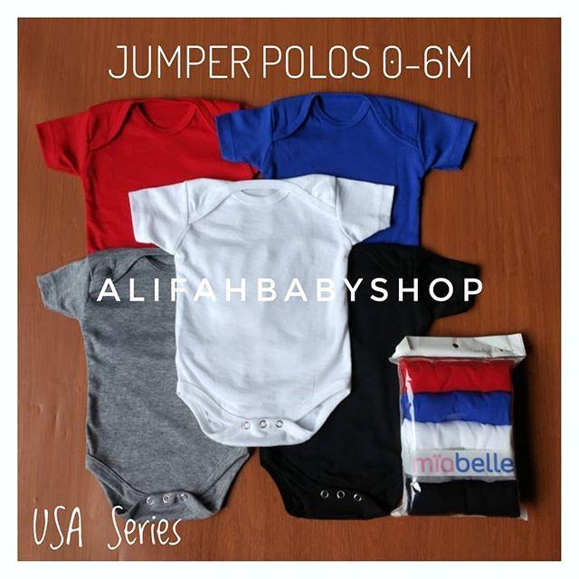 Jumper Bayi Polos Miabelle 0-6m USA Series | Shopee Indonesia