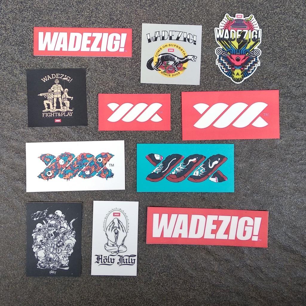 Stiker brand wadezig sticker pack