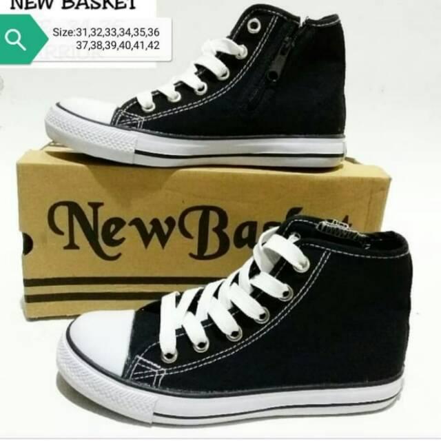 Sepatu Sekolah Nb New Basket 338 Hc Original Hitam Putih Uk
