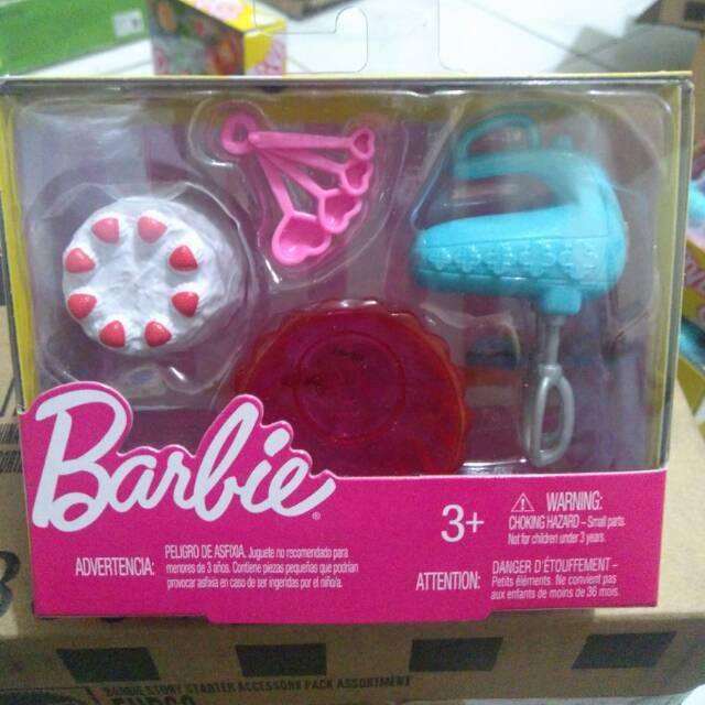 Aksesoris Boneka Barbie Peralatan Masak Kue Cake Ori Mattel Shopee Indonesia