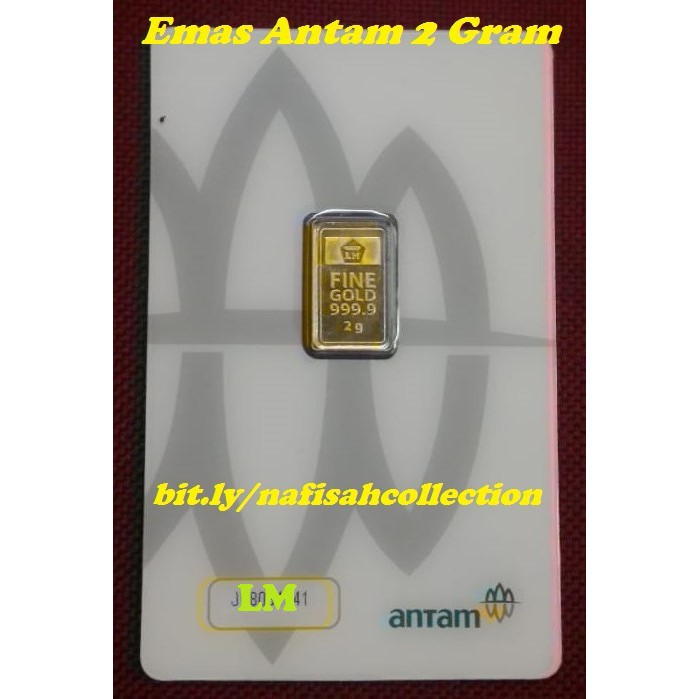 Logam Mulia Lm Emas Batangan Antam 10 Gram 24 Karat Fine Gold