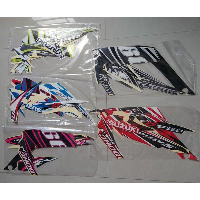 Stiker Bodi & Lis Body & Striping Satria Fu 2015 Biru Gp Se Good Quality  