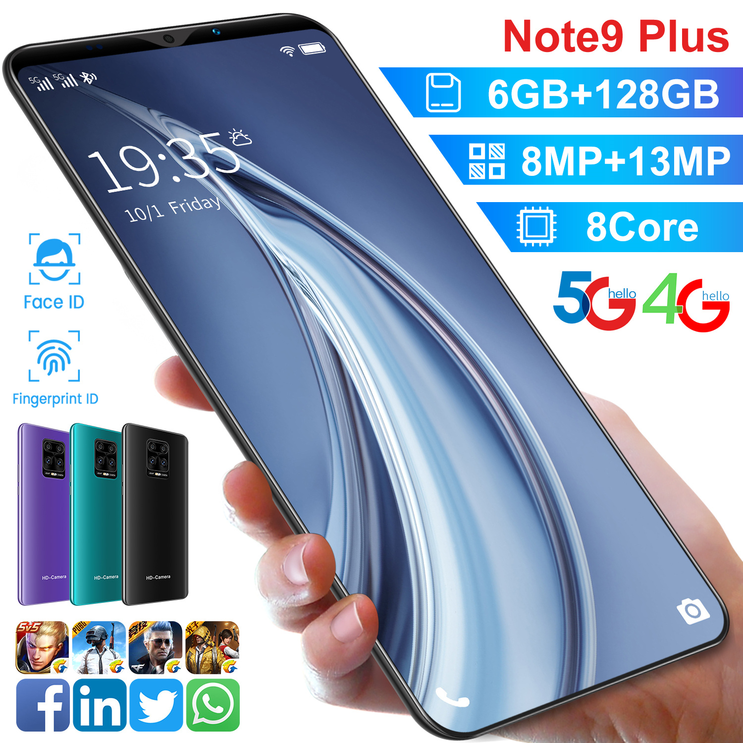 【hp murah cuci gudang】note9plus 5.8inci full screen ram 6/128GB handphone 8MP+13MP Android10.0 free gift bonus for hp oppo terbaru 2020 note20 hp murah 600 ribuan handphone promo