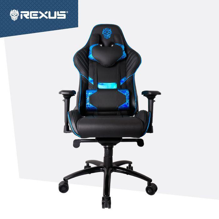 KURSI GAMING REXUS RGC 103 V2 ELECTRA BLUE 4D | Shopee ...