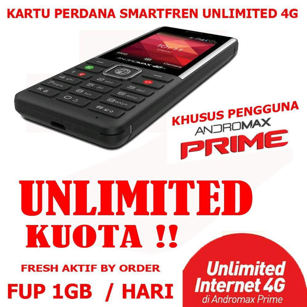 KARTU PERDANA SMARTFREN UNLIMITED ANDROMAX PRIME SMARTFREN 4G LTE UNLIMITED