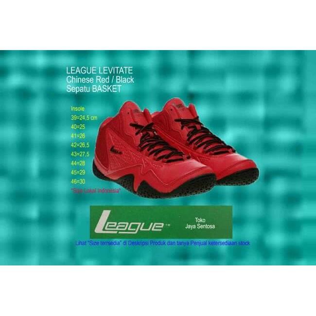 BST-87 Sepatu Basket LEAGUE LEVITATE Black Red - Merah- 44  838606ca1b