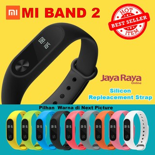 Xiaomi MI Band 2 Silicon Strap Repleacement Gelang Wristband Karet Colour Warna