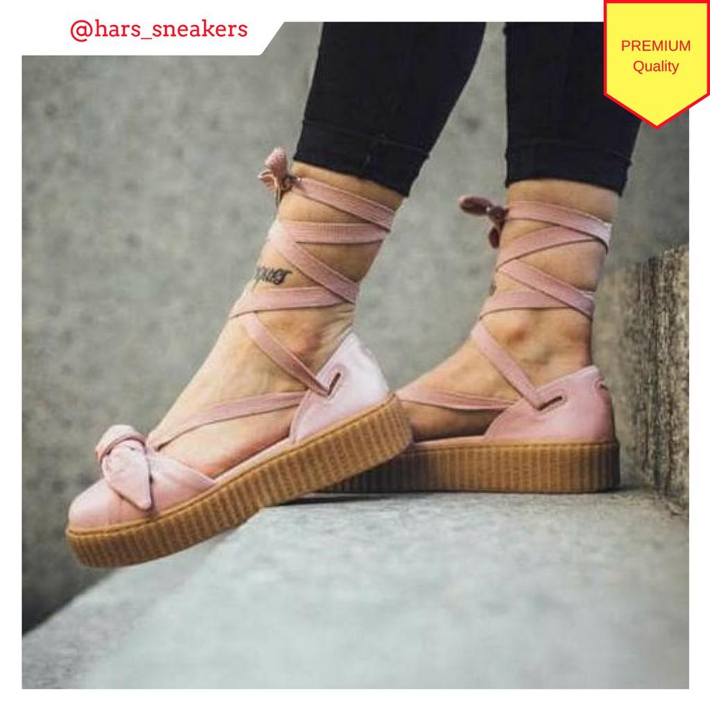 watch f3408 0f394 Puma x Fenty By Rihanna Women Bow Creeper Sandal Pink Premium Quality