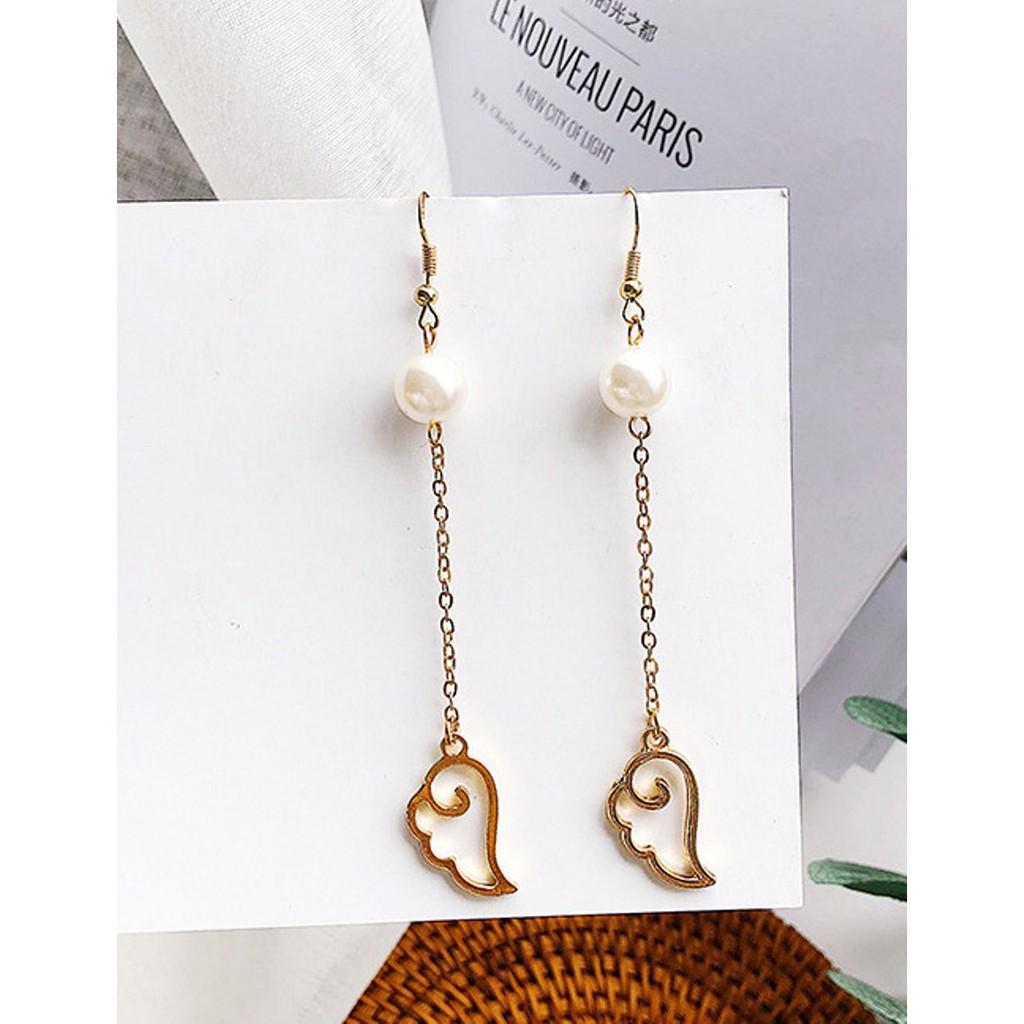 Jual LRC Anting Gantung Elegant Tassel Decorated Earrings   Shopee Indonesia