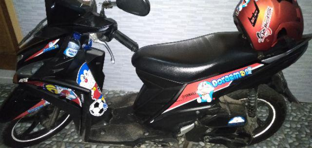 Striping Lis Sticker Variasi Mio M3mio Z Doraemon Biru Merah Kuning