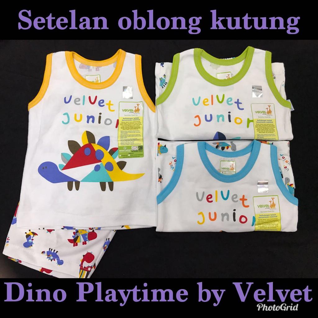 Setelan Kutung Playful Sml 3 12m Baju Tidur Piyama Velvet Junior Spy46 Panjang Bayi Newborn Motif Poppy Shopee Indonesia