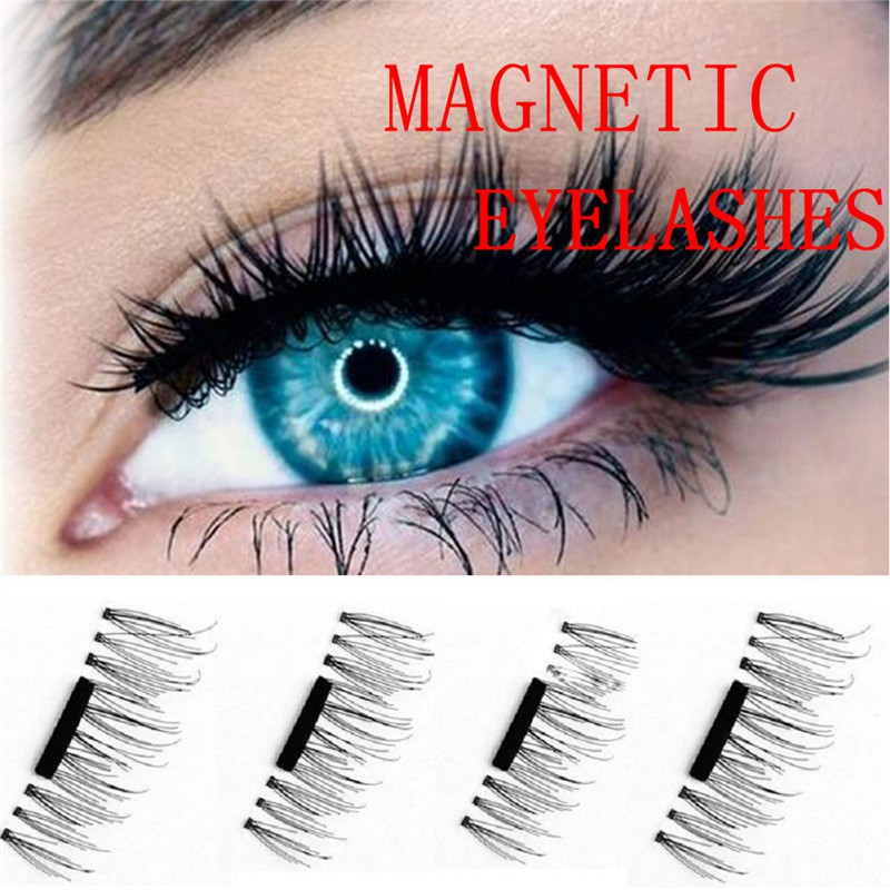 4Pcs/1Pasang 3D Bulu Mata Palsu Ekstensi Magnet/Tanpa Lem Reusable dengan 8 Model Plihan | Shopee Indonesia