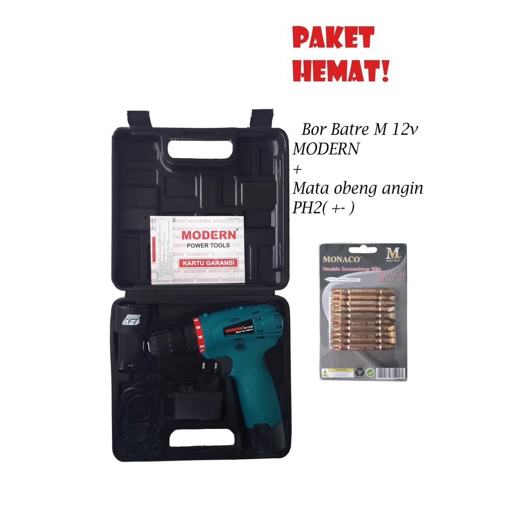 Mesin Bor Baterai Modern M 12v Tool Kit Kenmaster Mata Obeng Set Besi Kayu Tembok Dan Fisher Shopee Indonesia