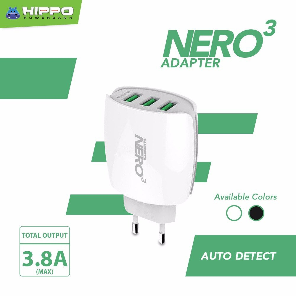 Hippo Ilo A1 Adaptor Charger Dual Output 24a Simple Pack Shopee Cf202 Car Fast Charging 30 Indonesia