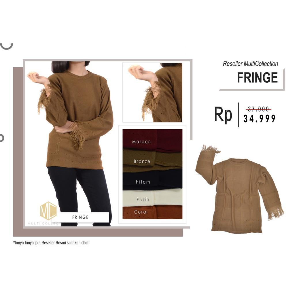 Premium Raida Sweater L Rawis Fringe Rajut Jumbo Shopee Indonesia Roundhand Secker Sj0015