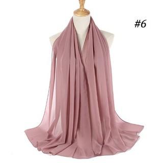Rab Pashmina Heavy Chiffon Hijab Pasmina Premium Jilbab Pashmina Premium Hijab Kain Bahan Sifon Shopee Indonesia