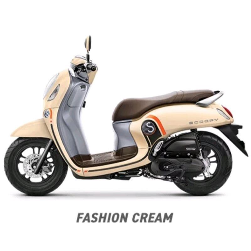 61100-K2F-N00ZL Slebor Spakbor Depan Scoopy Fi eSP 2020-2021 K2F Fashion Cream