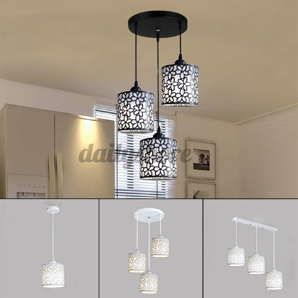 Ready Stock Modern Flower Petal Ceiling Light Led Pendant Lamp Dining Room Chandelier New Shopee Indonesia