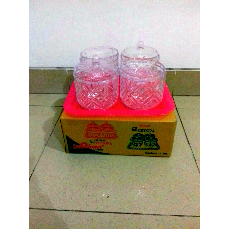 Toples Corona Sealware 25l Rekat Tutup Lid With Double Seal Shopee 1 Set Indonesia