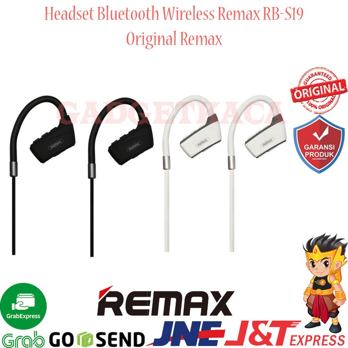 Headset Bluetooth Wireless Remax RB-S19 Sport Series Earphone Original - Putih