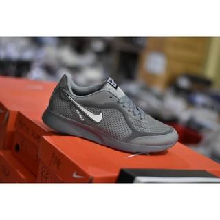 PROMO Sepatu Sport Nike Airmax Running Men Full Abu Abu Putih TERMURAH a4786bdc9e