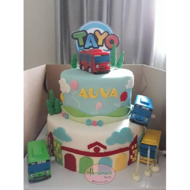 Kue Ulang Tahun Anak Tema Tayo Shopee Indonesia