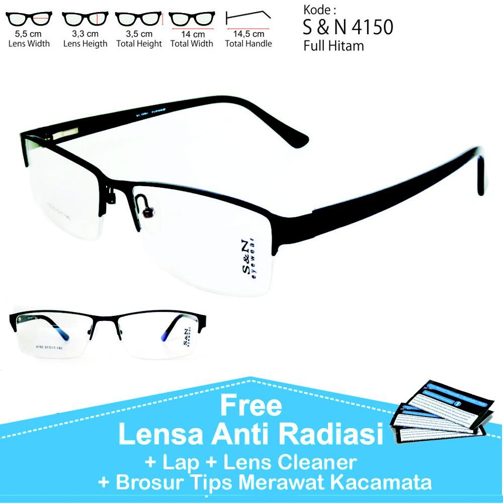 Frame kacamata nissa sabyan 72080 minus plus silinder normal anti radiasi  fashion pria dan wanita  89acfc8bbb