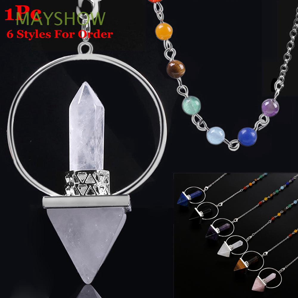 Fashion Charm Heart-shaped Natural Reiki Chakra Beads Necklace Pendant Jewelry