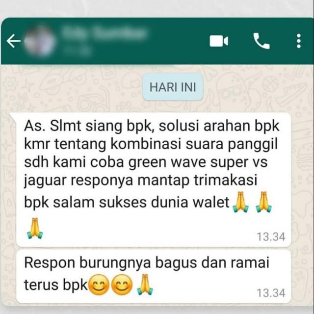 Testimoni Suara Walet Green Wave Super Dan Jaguar Original Ban Dunia Walet Shopee Indonesia
