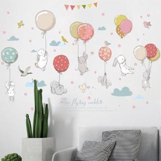 Kelinci Kartun Stiker Dinding Dilepas Kamar Anak Anak