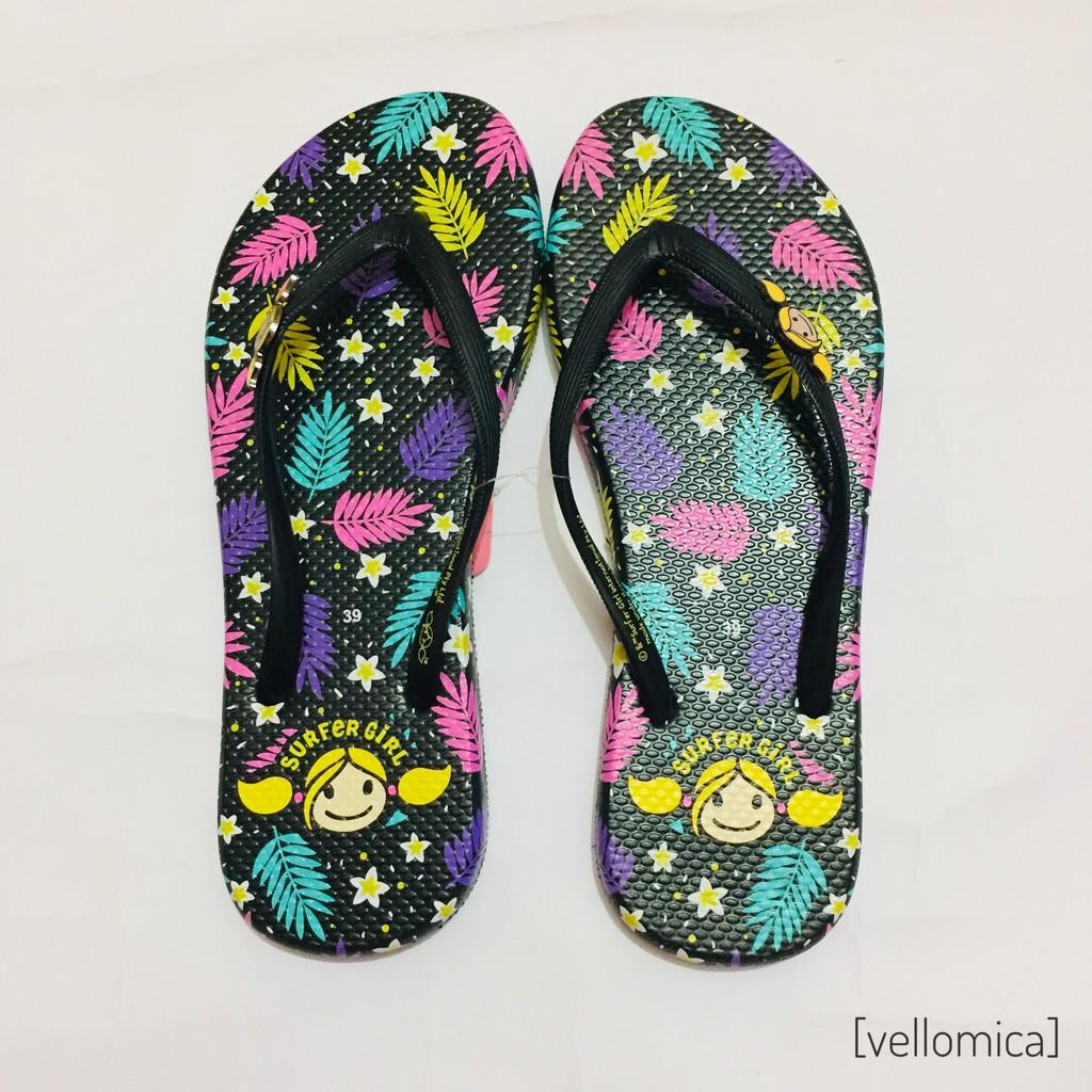 ec75ef155315 Sandal Jepit Wanita - Surfer Girl SGL Sporty Hitam   Merah