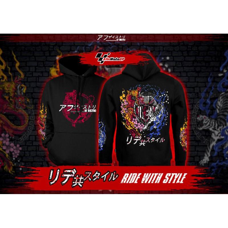 hoodie sunmori japanese limited edition ride with style hoodie kohaku naga tiger agv pista