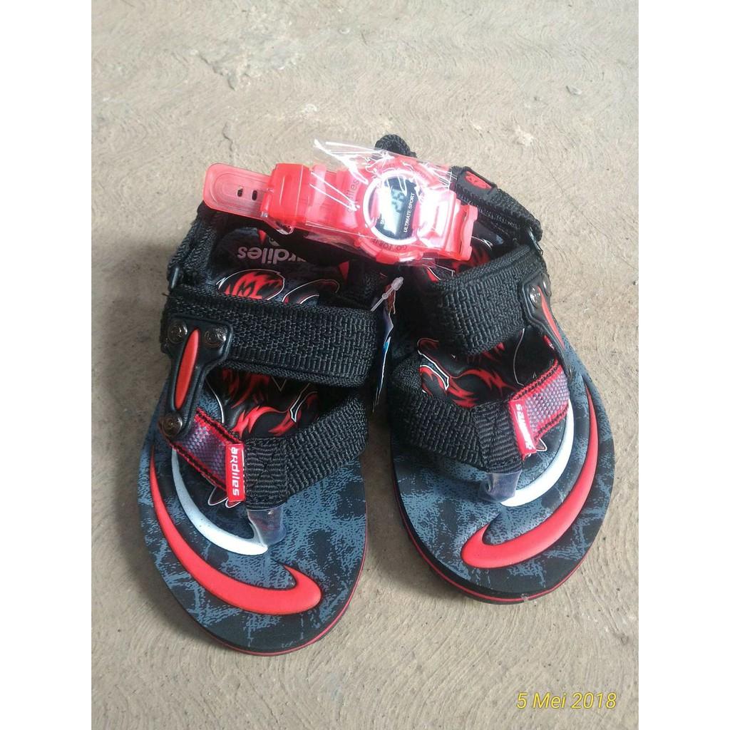 Ardiles Kids Sandal Gunung Anak Shopee Indonesia Gazelle Sepatu Hitam 29