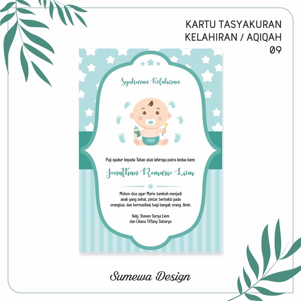 Contoh Ucapan Tasyakuran Aqiqah - contoh kartu ucapan
