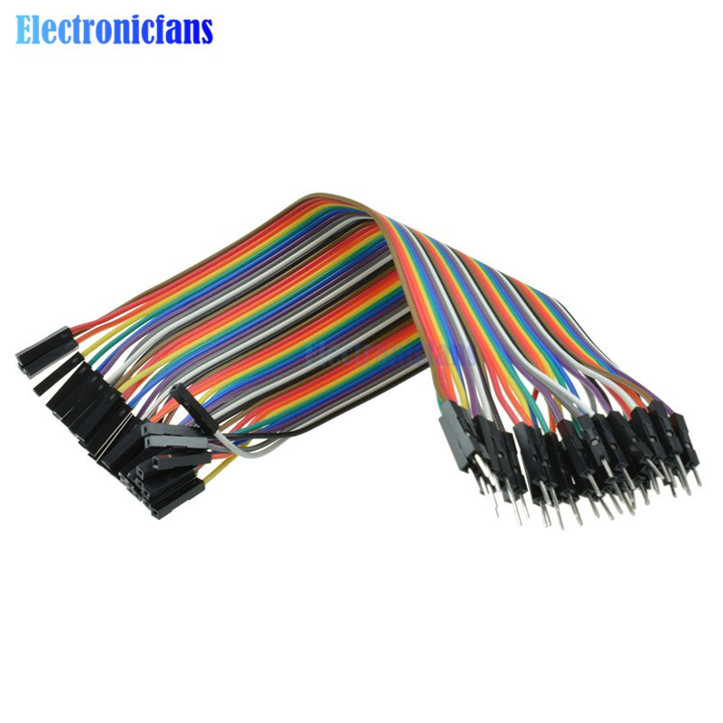 1 pc 40PCS 30cm 2.54mm Male to Female Dupont Cable Jumper Wire 1P-1P For Arduino