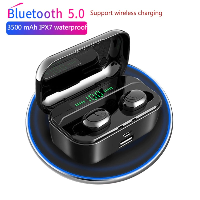 3500 Mah Tws Wireless Earphone Bluetooth 5 0 Earphones Led Power Display Cvc8 0 Dsp Noise Reduction Shopee Indonesia